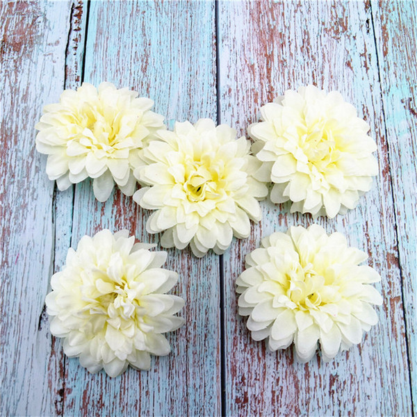 Artificial silk corsage headdress dahlia daisy chrysanthemum flowers flower for arch handmade DIY Wedding home decor head Freeshipping