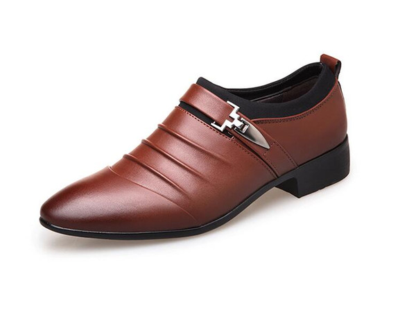 Luxury Leather Mens Formal Shoes Dress Shoes Fashion Oxford Business Design Oxford Wedding Shoes For Male