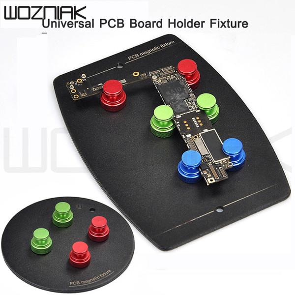 top popular Universal PCB Fixture with 6pcs Magnetic Pins Board Holder Circuit Board Soldering Platform PCB Fixture Clamp Groove Repair 2020