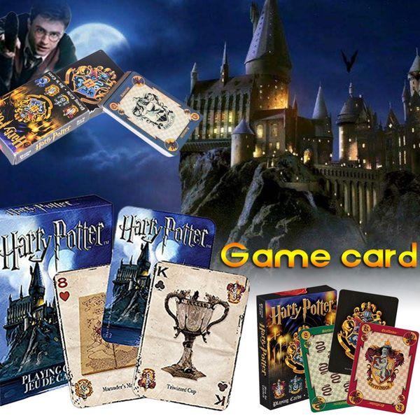 Harry Potter Jogando Cartas de Jogo para Crianças Jogo de Convés Mágico Inglês Conjuntos de Poker Família Divertido Crianças Brinquedos Presentes SS263