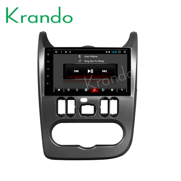 "Krando Android 8.1 9"" Full touch Big screen car multimedia system for Renault Sandero 2008-2012 GPS navigation player BT wifi car dvd"