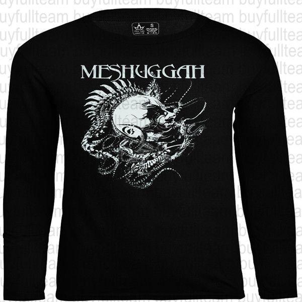 Meshuggah - Spinehead gráficos Mens preto longo mangas Tops Moda em torno do pescoço T Tamanho S M L XL 2XL