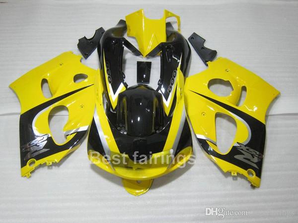 ZXMOTOR High grade fairing kit for SUZUKI GSXR600 GSXR750 SRAD 1996-2000 black yellow GSXR 600 750 96 97 98 99 00 fairings NC34