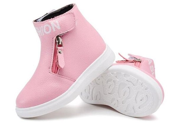 Autumn Winter Children Boots Boys Pu Leather Shoes Fashion Girl Martin Boots Waterproof Kids Boot Botas Ninas