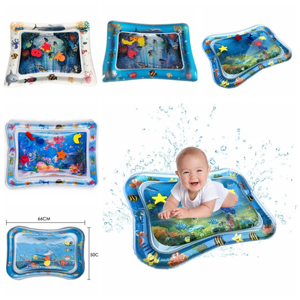 top popular Baby Water Cushion Inflatable Patted Pads Play Mat Fun Pat Pad Creative Dual Use Toy 7 Designs Wholesale DHW3754 2021