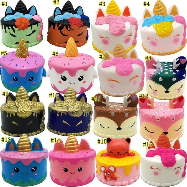 Squishy Toys squishies Rabbit tiger unicorn cake panda pineapple bear cake mermaid Slow Rising Squeeze Cute Strap gift MMA1923