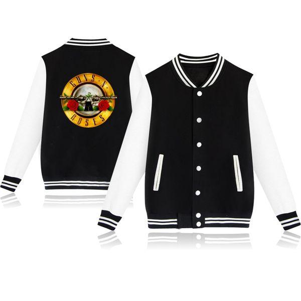 GUNS N ROSES sweatshirt baseball Jacket men/women uniform coat autumn winter casual hoodies fashion hip hop Jackets clothes