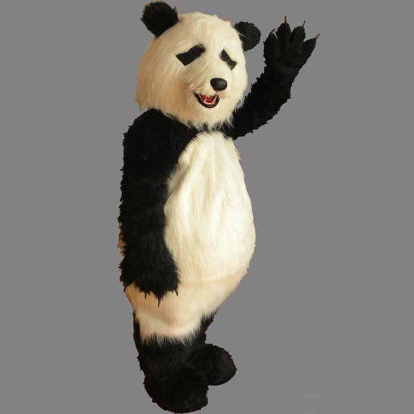 Costume De Mascotte Furry De Haute Qualité Taille Adulte Belle Partie Fantaisie Panda Robe Livraison Gratuite