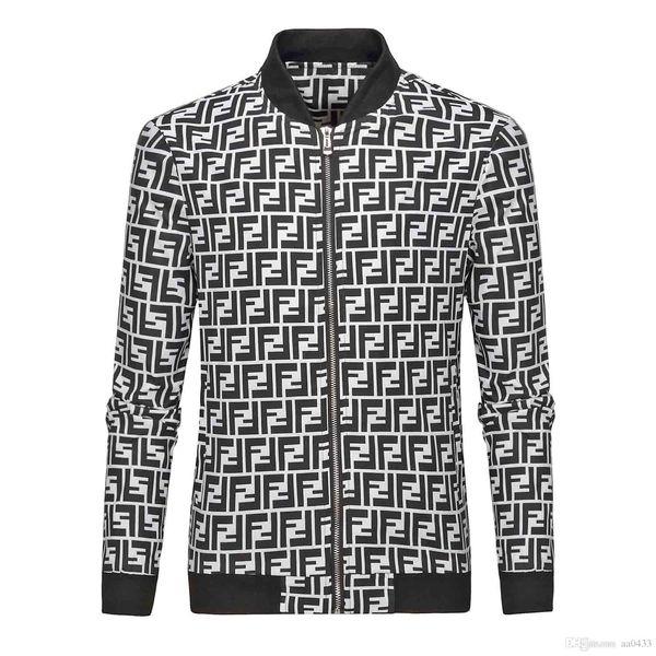 Free Shipping-HUY2018 fashion high quality men's sportswear latest floral letter pattern zipper men's Medusa casual jacket luxury