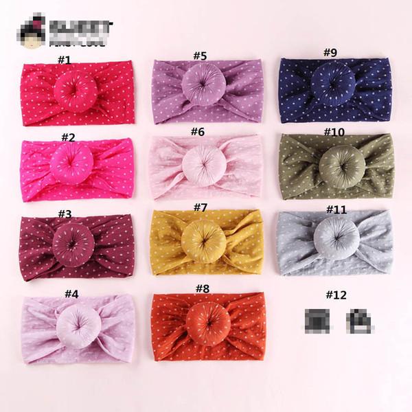 dots Newborn designer headband soft nylon girls designer headbands cute baby headbands kids headband designer hair accessories A5219