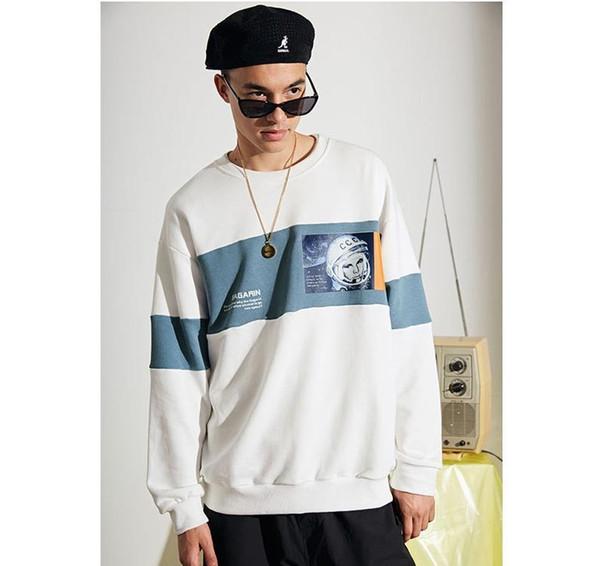 Mens Brand Hoodie Sweater 2019 Designer Astronauts Printing Casual Hoodies Mens Luxury Fashion Loose Hoodie Asian Size M-2XL Wholesale