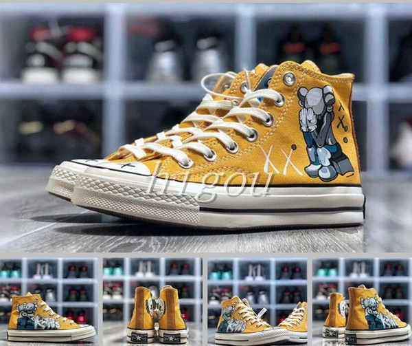 Новый Converses 1970 X KAWS X Улица Сезам Chuck Повседневная мода Холст Дизайнер Бег Скейтборд обувь Кроссовки 35-44