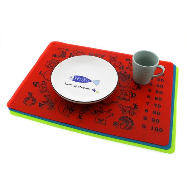 40 * 30CM Silicona para hornear Mat antiadherente Pan Liner Kid Mantel Coaster Table Protector de cocina Pastelería Liner Baking Utensilios para hornear DBC VT0613