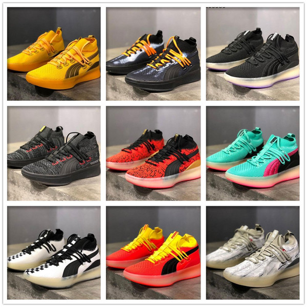 Clyde Court Disrupt Red Blast X-Ray Ocean Drive Miami Purple Glow Reform London Games Sneakers Men POE Peace On Earth Basketball Shoes