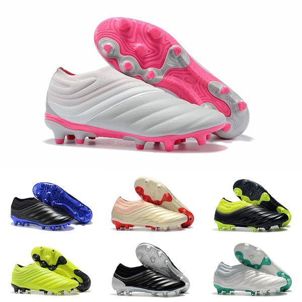 Envío rápido Original Copa 19+ FG Calzado de fútbol para descuento 19.1 Botas de fútbol AG Slip-on Negro / Rosa / Blanco Cleats de fútbol 2019 Size39-45
