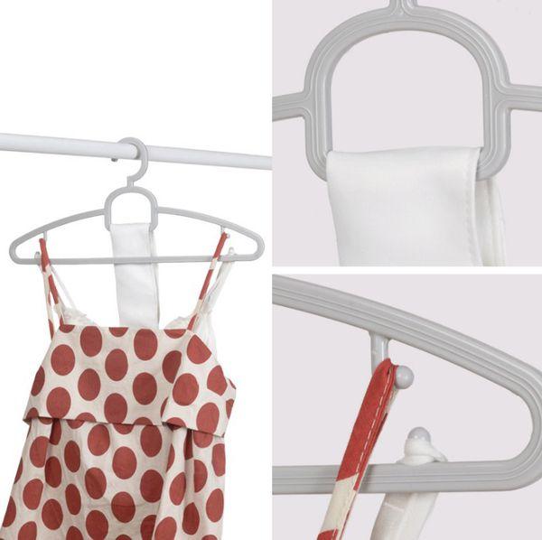 High quality Multi Clothes Hangers Non-Slip Hook For Suit Coat Closet Garment Outdoor Drying Rack Plastic Wringing Clothing Hanger KCH184