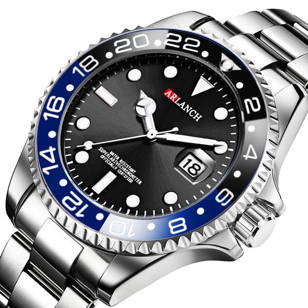 Новые горячие моды для мужчин кварцевые часы стали светящиеся водонепроницаемые мужские спортивные часы Relogio Masculino наручные часы