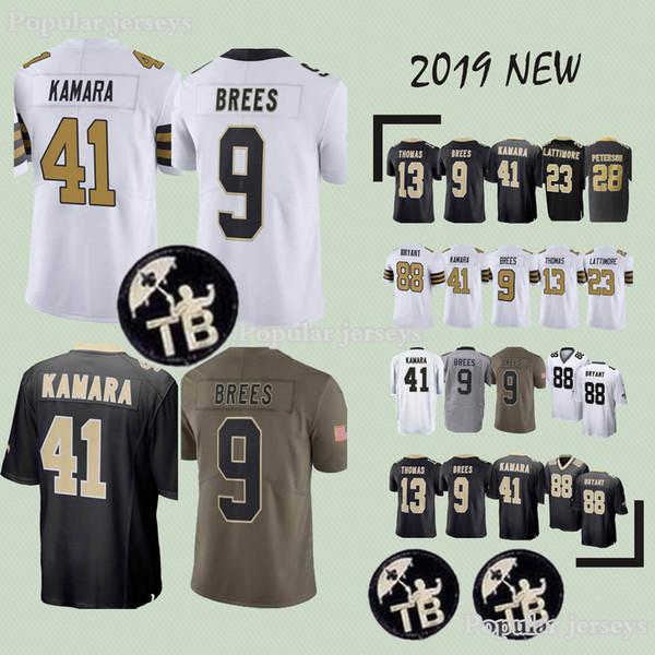 New Orleans jerseys Saints 41 Alvin Kamara 9 Drew Brees 23 Marshon  Lattimore 13 Michael Thomas new jersey 2019 9b78ed52e