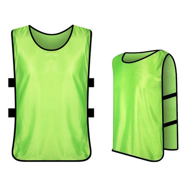 Bibs For Adults >> 2019 Adults Soccer Pinnies Quick Drying Football Jerseys Vest Soccer Team Against Bibs Sports Vest Breathable Team Training Bibs From Mazhongbin36
