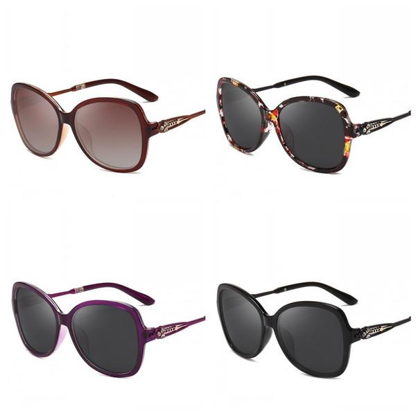Runde Sonnenbrille Kristallverzierung Eyewear Floral Sun Glass Frauen Polarisierte Licht Mode Vielzahl Stile 12jrd F1