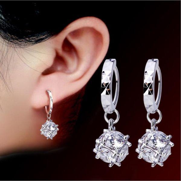 Mode Frauen Ohrringe Korea Zauberwürfel Liebesfenster Süßigkeiten Mode Ohrringe Versilbert Ohrschmuck Baumeln Kronleuchter