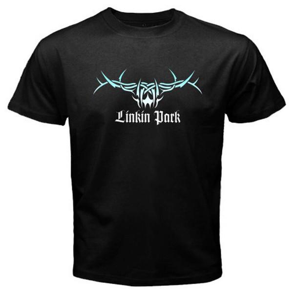 Новый LINKIN PARK Rock Band Music Logo мужская Черная Футболка Размер S до 3XL Мужчины Женщины Мужская Мода футболка Бесплатная Доставка