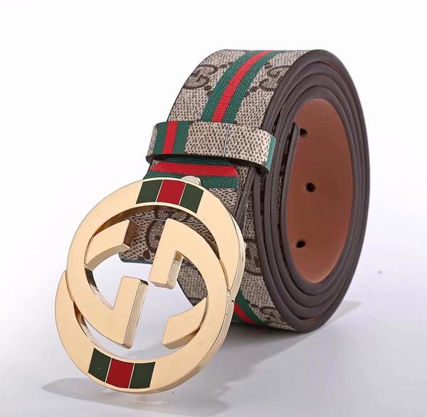 Vendita calda nuova cintura nera delle donne degli uomini Cinture di affari del cuoio genuino Cintura di fibbia del modello della cinghia di colore puro per il regalo