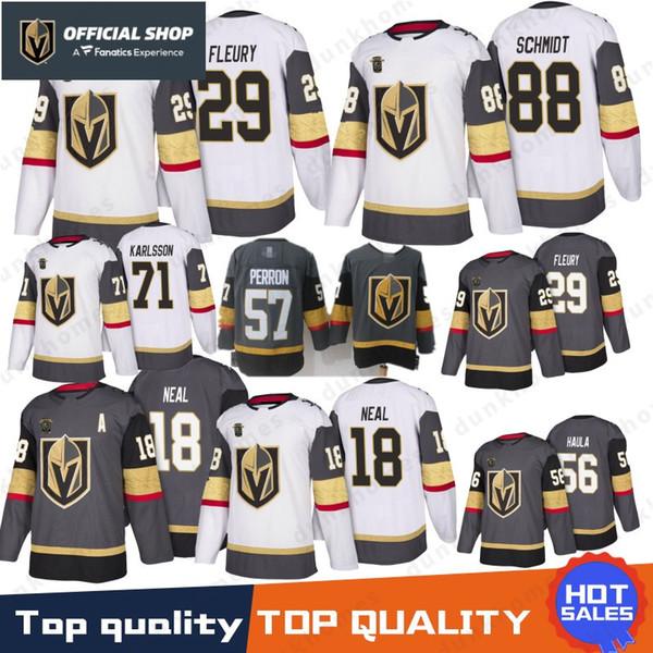 huge selection of fd691 e9fa7 2019 18 James Neal Vegas Golden Knights Jersey 29 Marc Andre Fleury 56 Erik  Haula 71 William Karlsson 88 Nate Schmidt 57 Perron Hockey Jerseys From ...