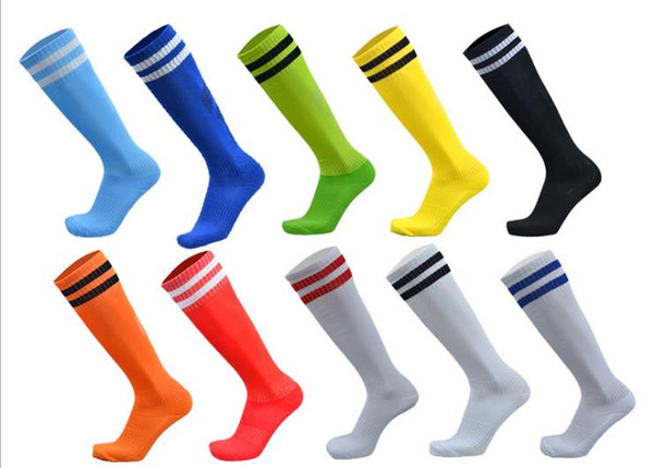Football adult children long tube over the knee two bars striped sports socks