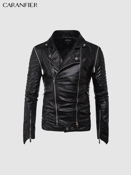 Mens Leather Jackets Autumn Winter Male Coats PU Outerwear Men Motorcycle Biker Classic Jacket High Quality Punk Coat