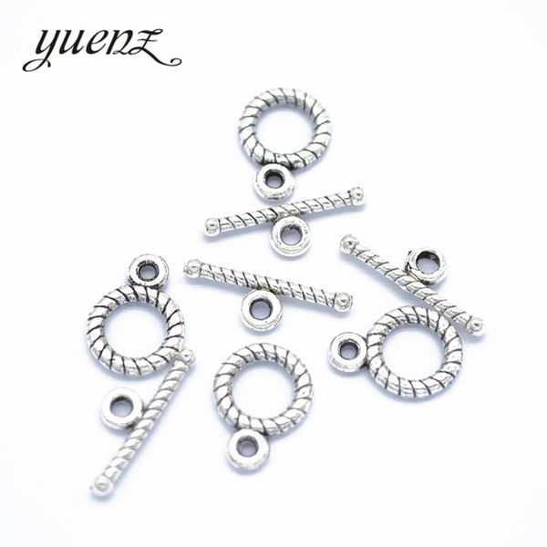 YuenZ 40 set Antique Silver Plated Screw thread OT Toggle Clasp Metal Fastener Bracelet For Jewelry Making Accessories V202 YuenZ