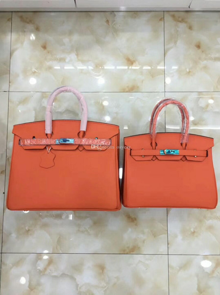 top quality genuine leather Handbags New Women 30cm 35cm Bag Ladies Handbag Style Lady Shoulder Bags Fashion Women Cheap bags Handbags