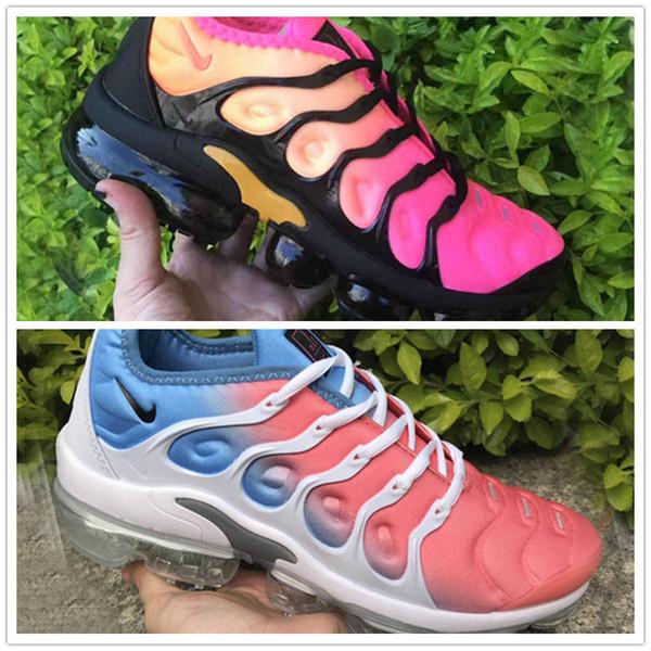 2019 TN Artı Racer Mavi Üniversitesi Kırmızı Kadın Erkek Koşu Spor Tasarımcı Ayakkabı Ruh Teal Geometrik Aktif Gökkuşağı Erkekler Sneakers Trainer