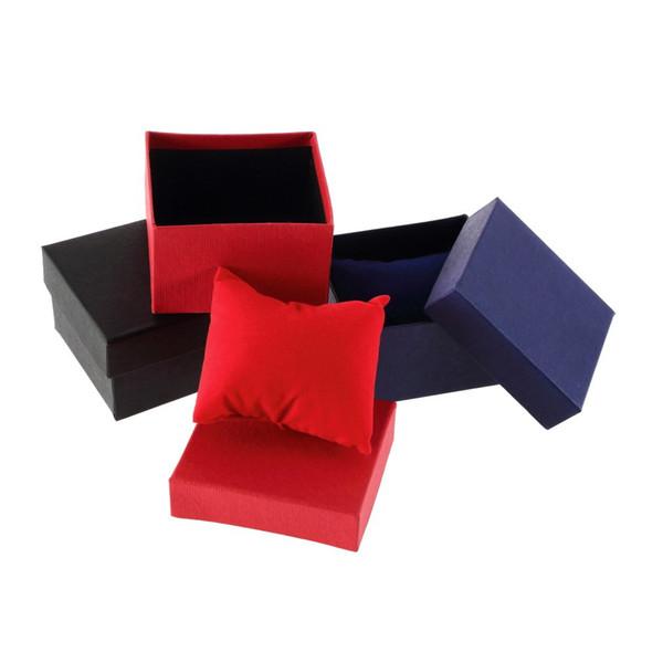 Nova pulseira de jóias caixa de relógio caixa de exibição de relógio titular com almofada de espuma dentro presente presente para caixas de pulseira