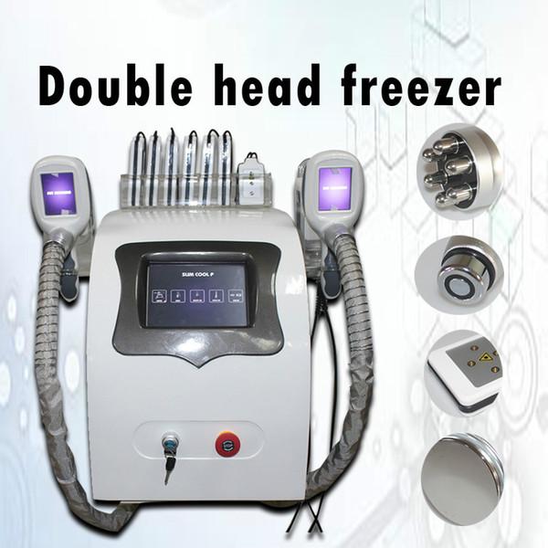 2019 Promoción Criolipolisis 2 Manija Cryo Reducción de grasa Sistema de congelación de grasa Cryolipolysis Cavitación del cuerpo de vacío Máquina de adelgazamiento