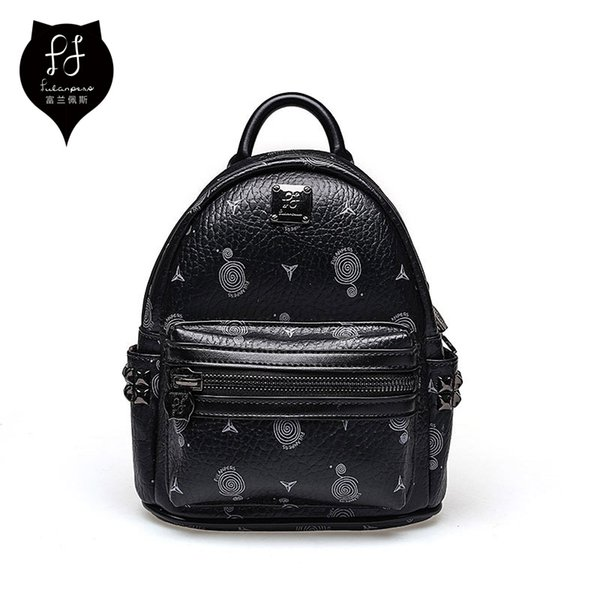 Fulanpers Mini Backpack Female School Bags Small Backpack For Teenage Girls 2018 Fashion Women Backpack Bags Ladies White&black J190628