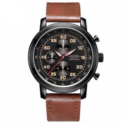 Outdoor Exercise Classic Super Fiber Strap Sports Men's Watch Simple Small Three Eyes Casual Wild Watch