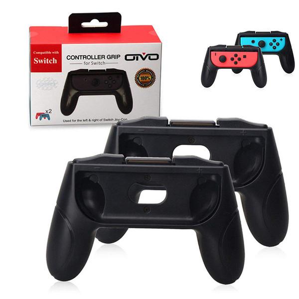 Apretones para Nintendo Switch Joy Con Controller Juego de 2 mangos Comfort Hand Grips Kits Soporte Soporte Holder Shell 1PCS Alta calidad