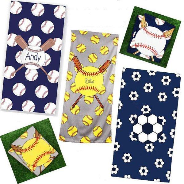 Kare plaj havlu ince elyaf havlu kumaş futbol beyzbol Softbol spor elbiseler battaniye çocuk çocuk hediyeler 150 * 75 cm C6461