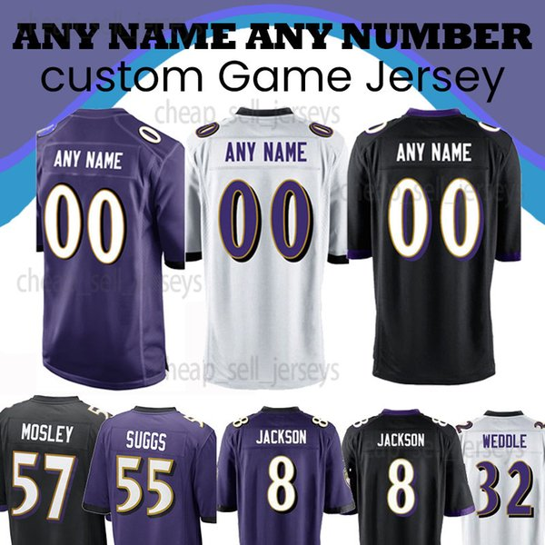 2019 Customized Jersey Baltimore Jersey Raven 5 Flacco 32 Weddle 81  free shipping