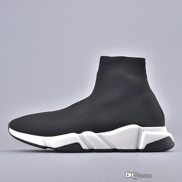 New Best Speed Socke Sneakers Mens Women Stretch-Mid Sneakers Speed Trainer Laufschuhe Leichte Casual Sportschuhe Staubbeutel