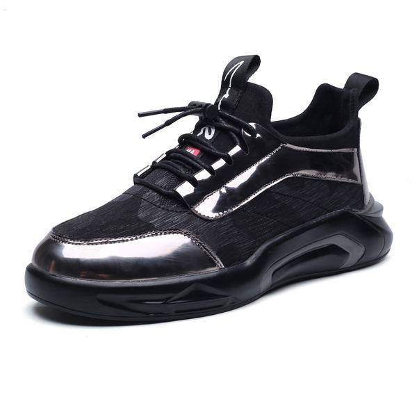 Marka Deri + Tuval Sapatos Masculino Adulto Mocassin Chaussure Homme Zapatos Hombre Rahat Düz Ayakkabı Erkekler Sneakers Eğitmenler Erkekler Ayakkabı