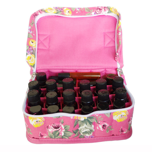 Essential Oil Bottles Carrying Case 9/20-slots Flower Owl Printed Holder Organizer Storage Bag Portable Cosmetic Bag QW601739