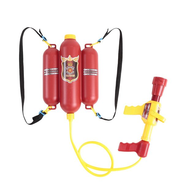 Fireman Backpack Water Spraying Toy Blaster Extinguisher with Nozzle and Tank Set Children Outdoor Water Beach Toy for Kids