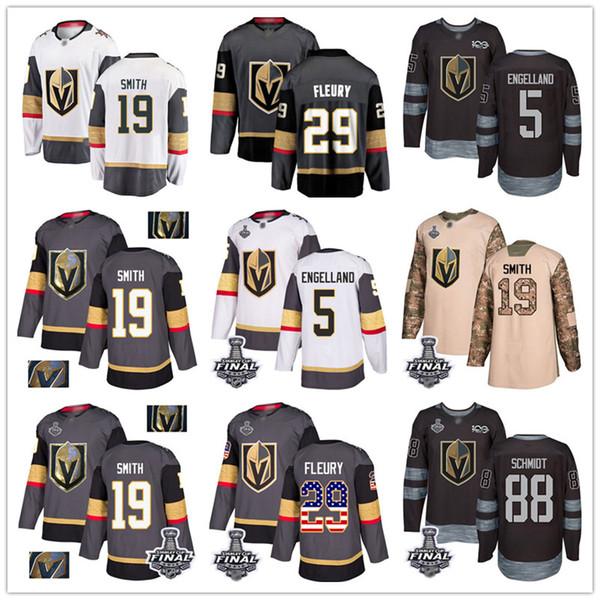 Individuelles Vegas Golden Knights Jersey 29 Marc-Andre Fleury 71 Karlsson 67 Max Pacioretty 19 Smith 88 Schmidt 5 Engelland USA-Flaggen-Hockey-Jersey