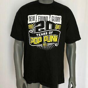 New Found Glory Band Graphic TShirt BlaShirt Mens Size XL