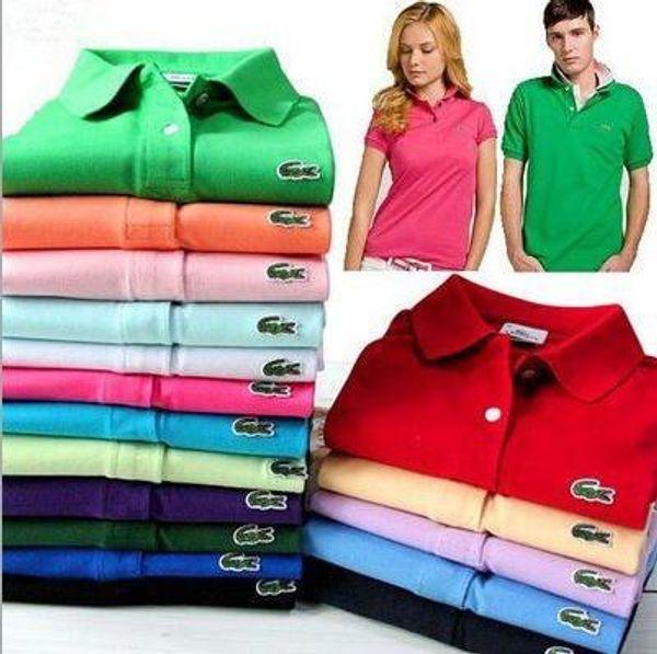 Polo français pour hommes, golf en coton perlé et terre, revers, t-shirt à manches courtes, vêtements pour hommes, vêtements de travail pour couples.
