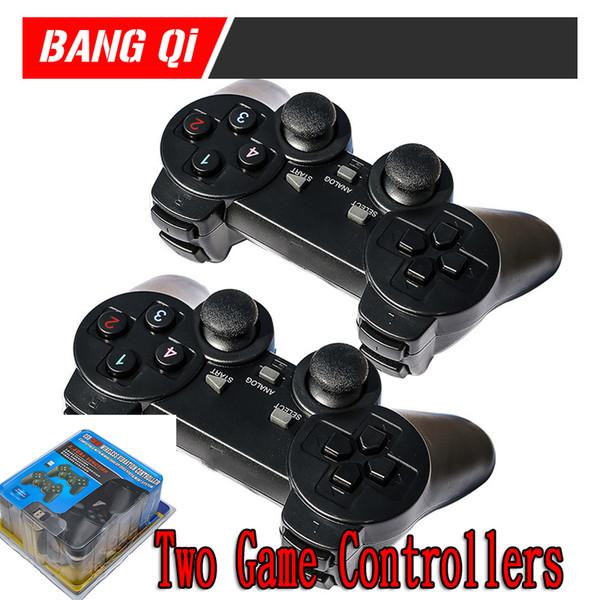 PS4 2.4G Bluetooth drahtloses verdoppelt Spiel-Steuerknüppel USB-Doppelt-Handgriff-Schlag Fernsehcomputer-Doppelt-Spiel-Prüfer behandeln Kleinpaket