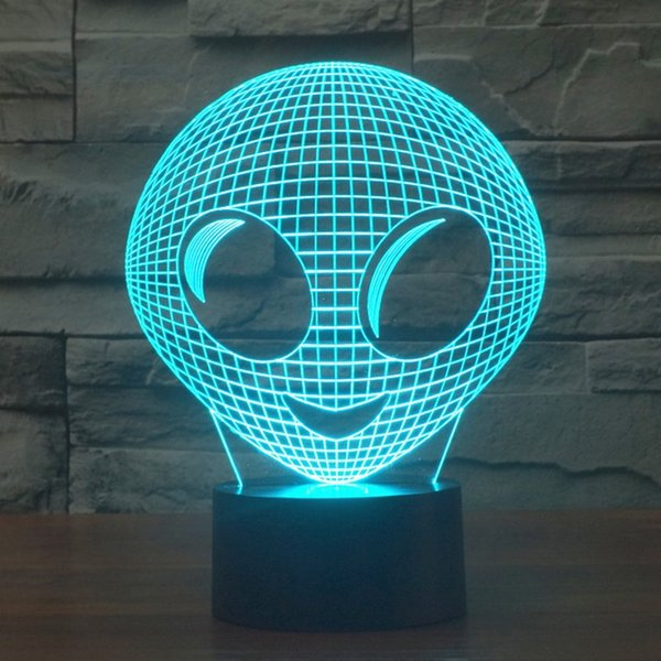 3D Night Lamp Colorful Alien Shape Touch Control Light 7 Colors Change USB LED for Desk Table Exhibition Hall