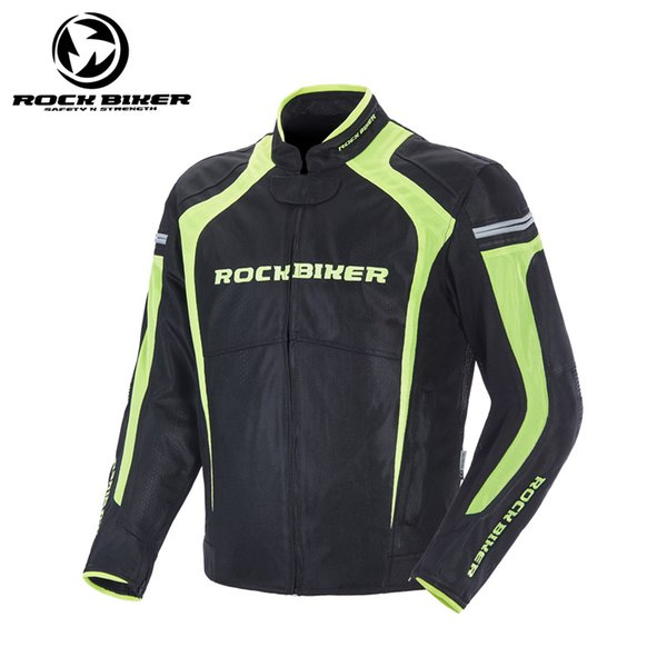 2018 new ROCK BIKER Polyester Breathable Mesh Motorcycle Jacket Men Spring Summer Slim Moto Racing Riding jacket with CE protector 4XL